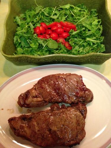 arugula & steak