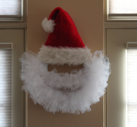 Santa Tulle Wreath cute