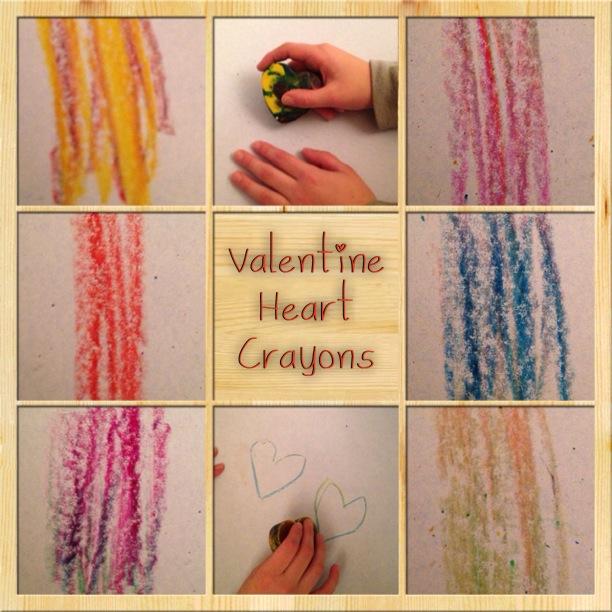 v heart crayons
