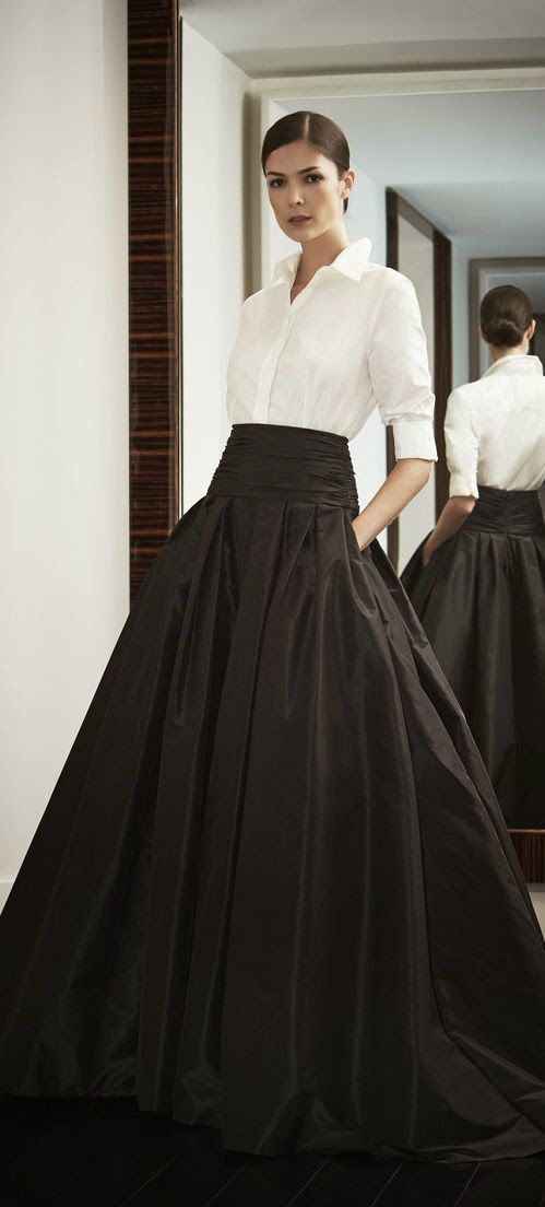 black & white ball gown skirt
