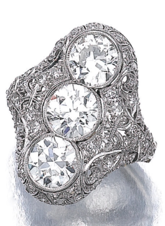 diamond ring circa 1915