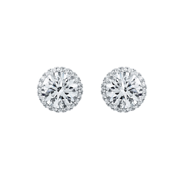 harry winston micropave earrings